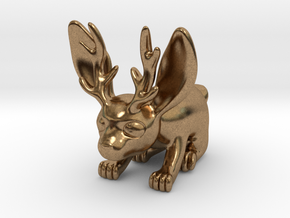 Little Jackalope Figure in Natural Brass