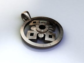 Pendant, Forces of Nature  in Polished Bronze