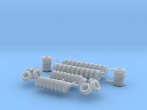 Tires Z Scale in Smooth Fine Detail Plastic
