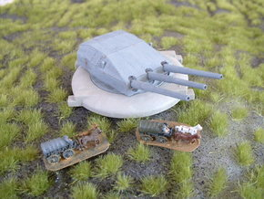 "German 28cm (11"") Coastal Battery 1/285 6mm in White Strong & Flexible"