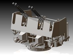 Quad Bofors Shielded Elevated 1/128 in Frosted Ultra Detail