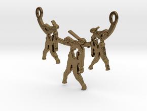 Zombie Trio Pendant in Natural Bronze