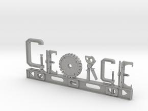 George Nametag in Aluminum