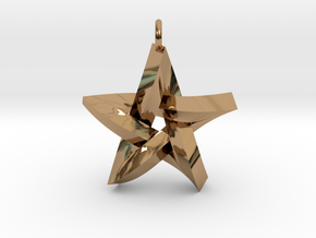 Impossible Star Pendant in Polished Brass
