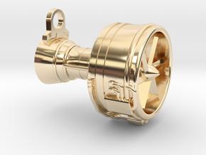 Turbofan Engine Key Fob in 14K Yellow Gold