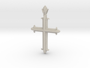 Cross flory ver1 in Natural Sandstone