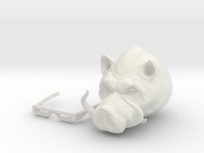 Punk Pig in White Natural Versatile Plastic