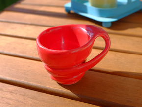 Zest Espresso Cup in Gloss Red Porcelain