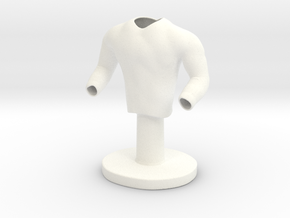 Sport Shirt in White Processed Versatile Plastic