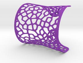 """Voro Modern"" bracelet wide in Purple Processed Versatile Plastic"