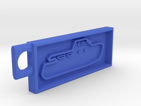 Boat Key Chain Fixed in Blue Processed Versatile Plastic