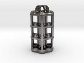 Tritium Lantern 5D (3.5x25mm Vials) in Polished Nickel Steel