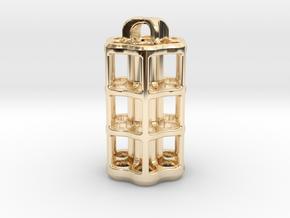 Tritium Lantern 5D (3.5x25mm Vials) in 14k Gold Plated Brass