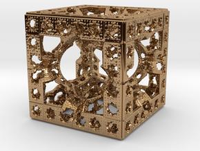 Hyper Solomon cube in Polished Brass