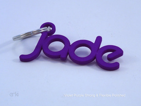 Jade - Keychain Hanger in White Strong & Flexible