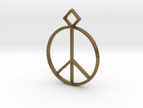 Peace Pendant in Natural Bronze