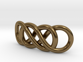 Double Infinity in Polished Bronze