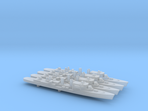 T47 Class AAW Destroyer (1962) x 4, 1/2400 in Smooth Fine Detail Plastic