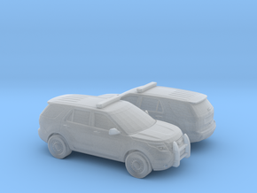 1/160 2X Ford Explorer Police  Interceptor in Frosted Ultra Detail