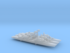 Tourville-class frigate x 3, 1/2400 in Smooth Fine Detail Plastic