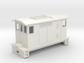 "HOn30 Boxcab Locomotive (""Maud"" V1) in White Natural Versatile Plastic"