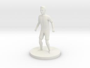 Portuguese Football Player in White Natural Versatile Plastic