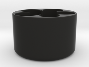CoinCan in Black Natural Versatile Plastic