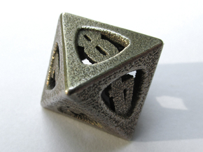 Thoroughly Modern Die8 in Polished Bronzed Silver Steel