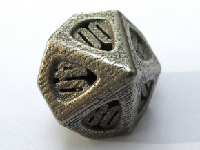 Thoroughly Modern Die10 Decader in Polished Bronzed Silver Steel