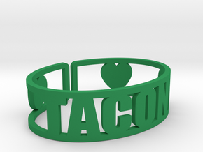 Taconic Cuff in Green Processed Versatile Plastic