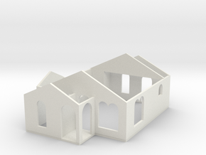 Small House 02a in White Natural Versatile Plastic