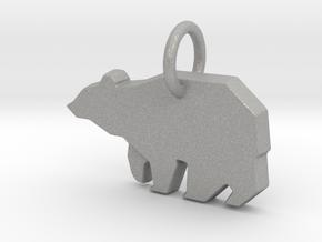 Bear Pendant in Aluminum