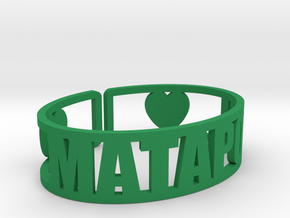 Mataponi Cuff in Green Strong & Flexible Polished