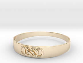 Double Infinity Bracelet ver.2 51mm inside in 14k Gold Plated Brass
