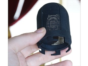 Top Part For Handheld Microphone Adapter in Black Natural Versatile Plastic