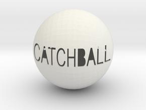 Catchball in White Natural Versatile Plastic