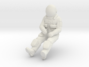 NASA Space Shuttle Pilot in White Natural Versatile Plastic: 1:72
