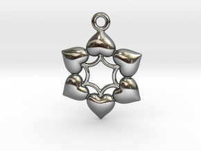 Round Dance Of Hearts  2 in Fine Detail Polished Silver