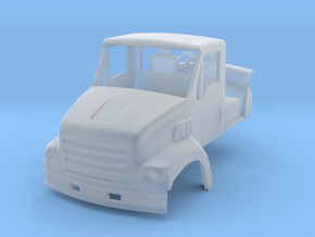 1/64 Sterling LT7501 truck cab with interior & mir in Smooth Fine Detail Plastic