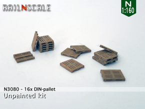 16x DIN-pallet (N 1:160) in Frosted Ultra Detail