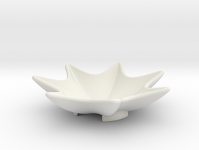 Key Dish in White Natural Versatile Plastic