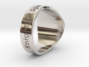 Auperball Tuned Ring Season 1 in Rhodium Plated Brass