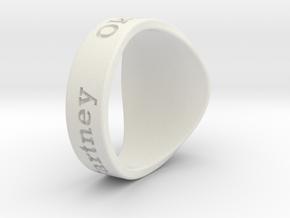 Muperball Bal McCartney Ring S9 in White Natural Versatile Plastic