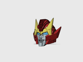 "Hot-headed Captain's Head ""MTMTE"" in Smooth Fine Detail Plastic"