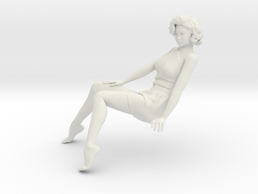 1/18 Sit Lady-013 in White Natural Versatile Plastic