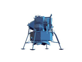 Apollo Lunar Module in White Natural Versatile Plastic
