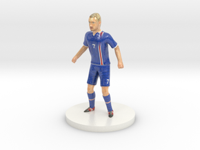 Icelandic Football Player in Coated Full Color Sandstone