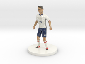 Colombian Football Player in Glossy Full Color Sandstone