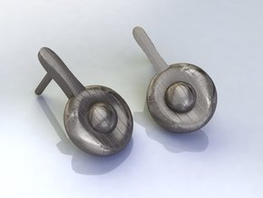 Sundino Earrings in Polished Bronzed Silver Steel