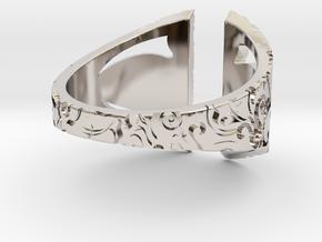 Gothic Inner Ring in Rhodium Plated Brass